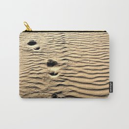 Pismo Beach Footprints Carry-All Pouch