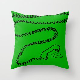 phone is ringing Throw Pillow