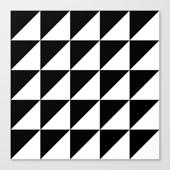 Black and white retro Canvas Print