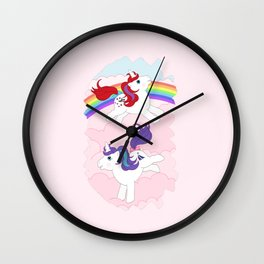 g1 my little pony unicorns Wall Clock