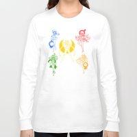 sailor moon Long Sleeve T-shirts featuring Sailor Scouts / Sailor Moon by Sara Eshak