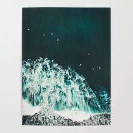 WAVES - OCEAN - SEA - WATER - COAST - PHOTOGRAPHY Poster