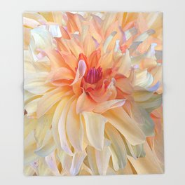 Dancing Dahlia Throw Blanket