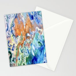 Singularity, Abstract Fluid Acrylic Pour  Stationery Cards