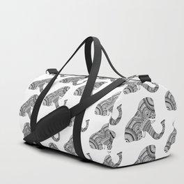 Zentangle Elephant Duffle Bag