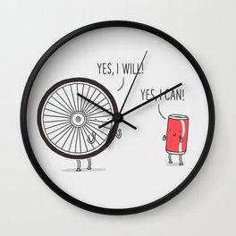 I will, I can Wall Clock
