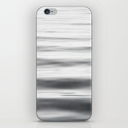 Black and White Water Ripple Photography, Grey Ocean Wave Art, Gray Sea Waves, Neutral Modern Photo iPhone Skin