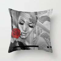 bridge Throw Pillows featuring Bridge by Müge Başak