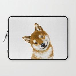 Smile Shiba Inu Laptop Sleeve