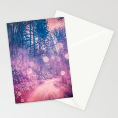 Forest Trees Nature Trail - Pink and Blue Magical Spirit Path Stationery Cards