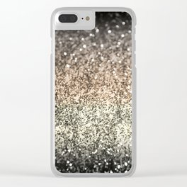 Sparkling GOLD BLACK Lady Glitter #2 #decor #art #society6 Clear iPhone Case