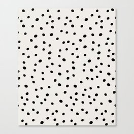 Preppy Spots Digita Drawing Canvas Print