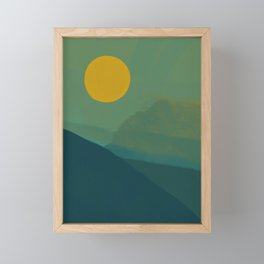 The Hills Felt Green That Evening Framed Mini Art Print