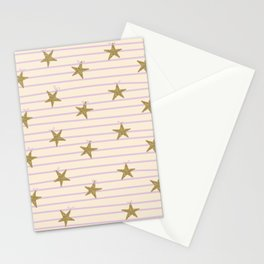 Pink Lines Stationery Cards