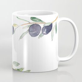 Olive Tree Branches and Black and Green Olives Coffee Mug