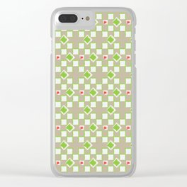 Woven Pattern 3.0 Clear iPhone Case