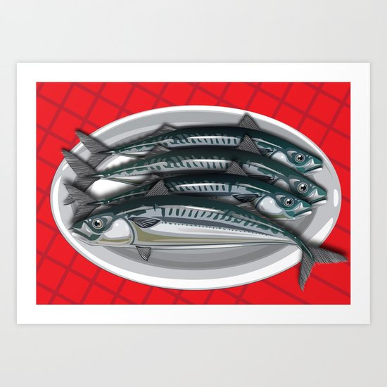 Fish Supper Art Print