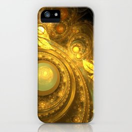 Golden leafs iPhone Case