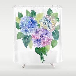 Hydrangea Bouquet Shower Curtain
