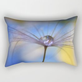 Cool Water A droplet on a Dandelion Seed Parachute Rectangular Pillow
