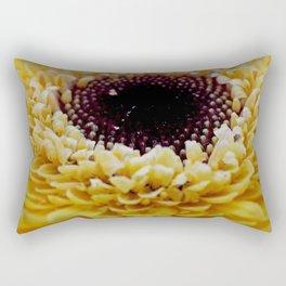 Yellow Germini Close Up Rectangular Pillow
