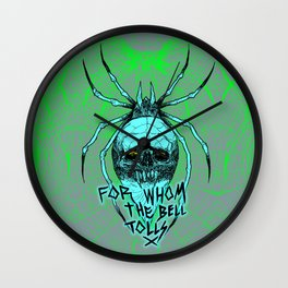 ALCOHOLICA SPIDER SKULL WEB 80's thrasher Wall Clock