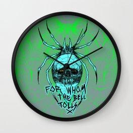 ALCOHOLICA SPIDER SKULL WEB 80's thrasher Wall Clock