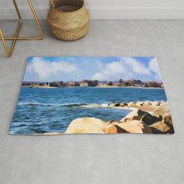 New England Shoreline - Painterly Rug