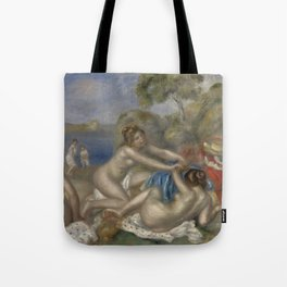 Bathers Playing with a Crab Tote Bag