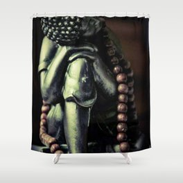 Beaded buddha Shower Curtain