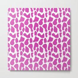 Pink dalmatian pattern Metal Print