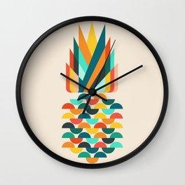 Groovy Pineapple Wall Clock