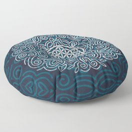 Flower Of Life (Silver Lining) Floor Pillow