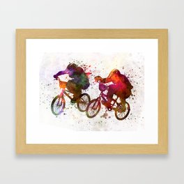 BMX Race Framed Art Print