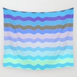 Bright Blue Bars Wall Tapestry