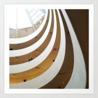Guggenheim Interior, New York Art Print