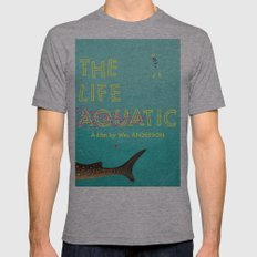 The Life Aquatic SMALL Tri-Grey Mens Fitted Tee