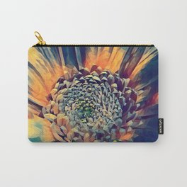 polygon art Flower stamp pen drawing  Carry-All Pouch