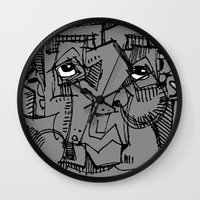 gnome Wall Clocks featuring Gnome by 5wingerone