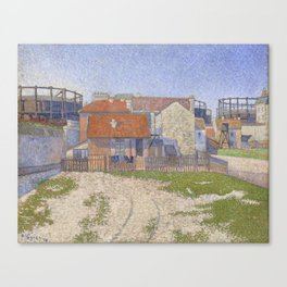 Gasometers at Clichy Canvas Print