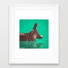 Hippo Framed Art Print