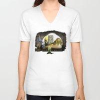 kermit V-neck T-shirts featuring Kermit the Hut by scott sherwood