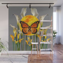 FANTASIC MONARCH BUTTERFY MOON & CALLA LILIES Wall Mural