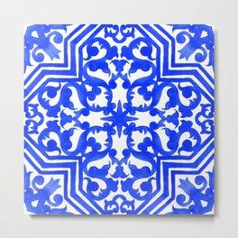 Portuguese azulejo tiles. Gorgeous patterns. Metal Print