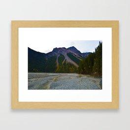 Kinney Flats on the Berg Lake Trail in British Columbia, Canada Framed Art Print
