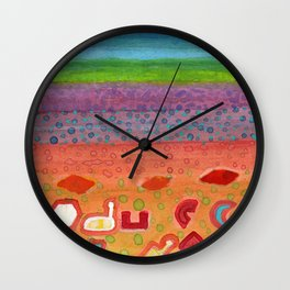 Remains on the Landscape Wall Clock