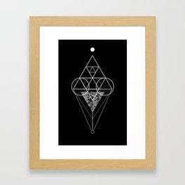 Triangle texture geometry Framed Art Print