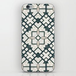 Victorian Art Deco Medieval Pattern light gray SB22 iPhone Skin