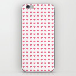 Watercolor Hearts Pattern 1 iPhone Skin