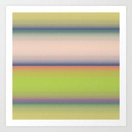 Retro rainbow stripes pattern Art Print